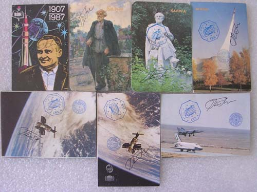 # gp700            Old Soviet pocket calendars flown on ISS 1