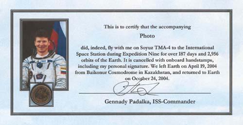# gp908            ISS flown photo 2