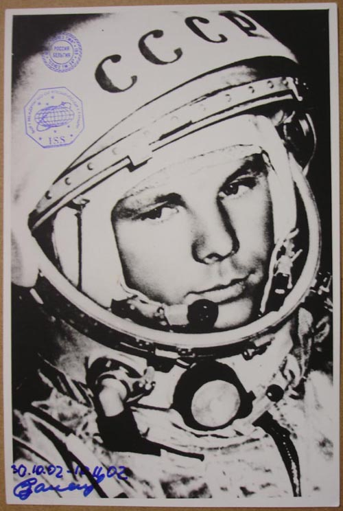 # zal350            Yuri Gagarin photo flown on ISS 1