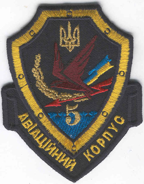 # avpatch195            Ukraine airforces 5 corps pilot patch. 1