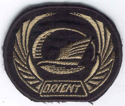 # avpatch256            New Russian airline `Orient` pilot visor hat patch 1