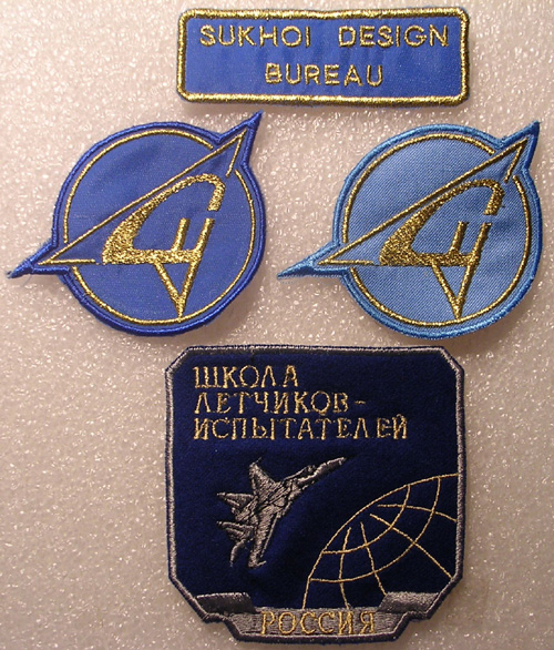 # avpatch085            Sukhoi Design Bureau test-pilot patches 1