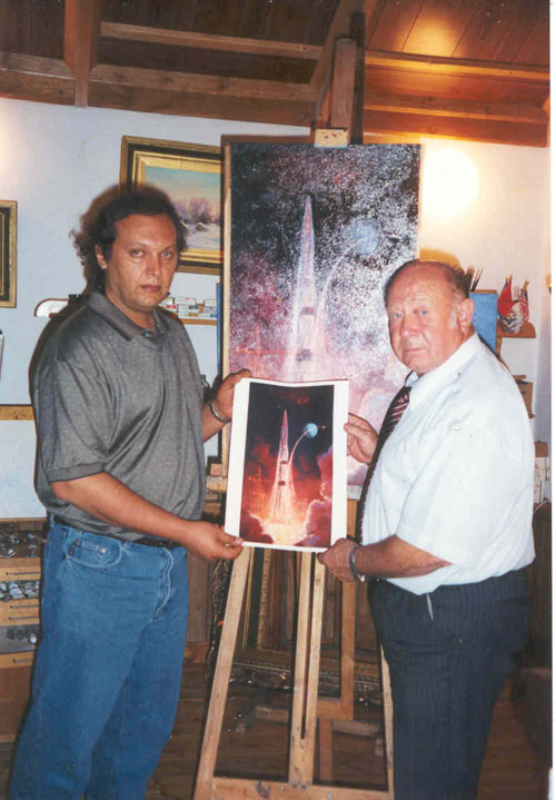 # ic100  With Alexei Leonov in his art studio 1