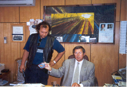 # ic400            Photo in cosmonaut V.Savinykh office in University 1