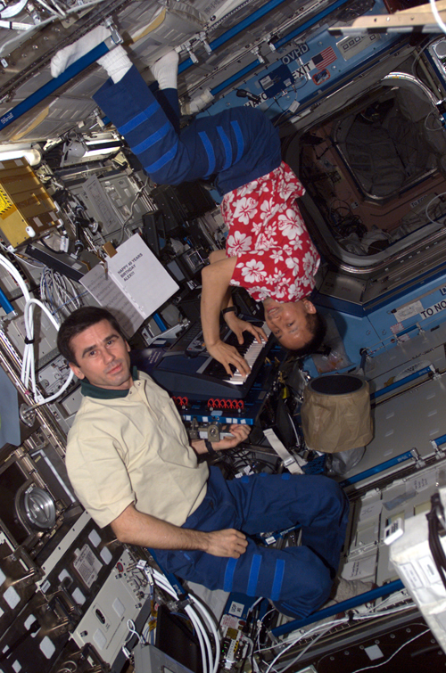 # ic082            June 2003 Birthday Congratulation from the ISS 1
