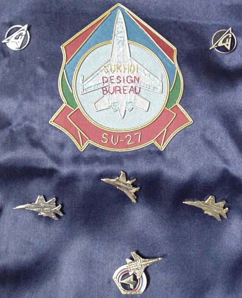 # abp200            Sukhoi and MIG presentation pins on pennants 3