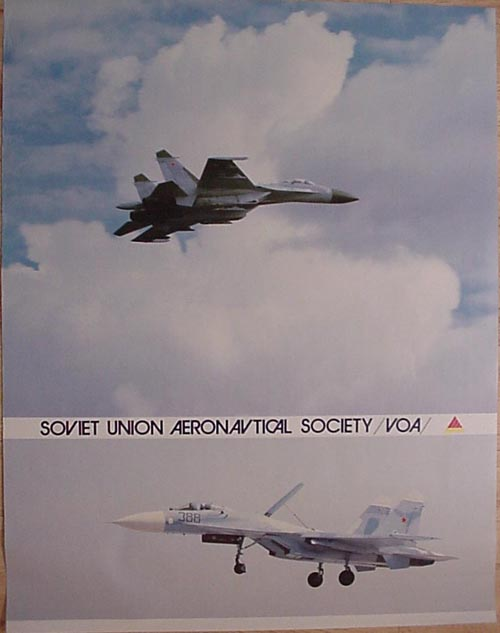 # avpost110            SU-27 poster of Soviet Union Aeronautical Society 1