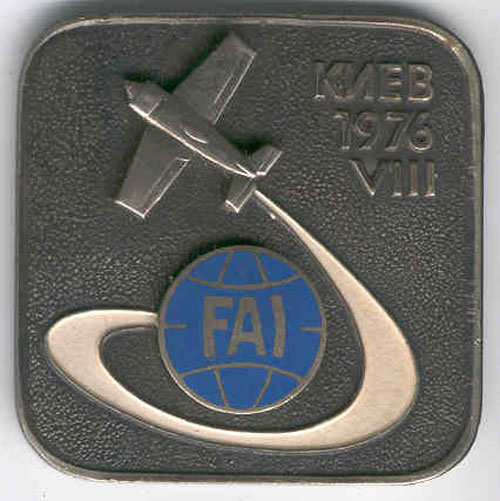 # yaksu350            Yak pilot medal of participant of 1976 World Championship 1