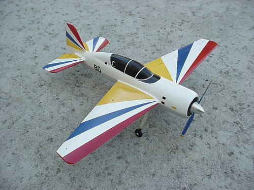 # yaksu140            YAK-54 tandem-seat aerobatic trainer model. 1