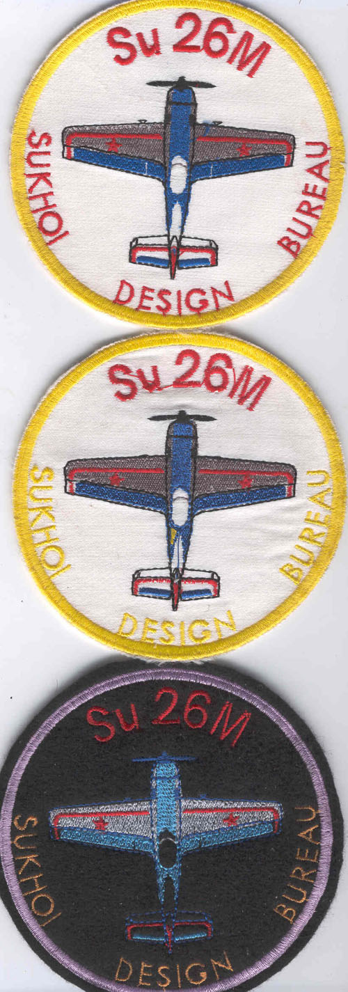 # yaksu205            SU-26M sports aerobatic pilot patches at le Bourget 1989 airshow 1
