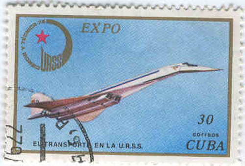 # aairl402            Tu-144 Cuban and Soviet stamps 1