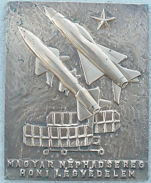 # aui251            Mig-21 Hungarian air deffence bronze wall hanging 1