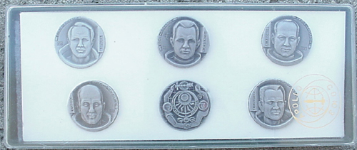 # astp350            Set of 6 commemorative medals 1