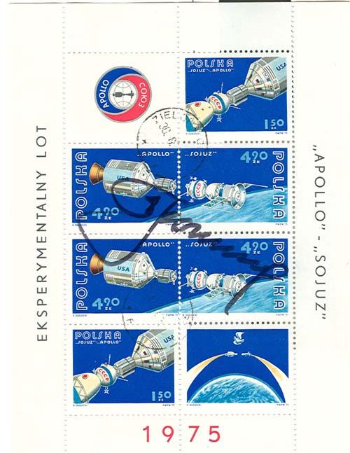 # astp109d            Leonov signed Polish ASTP stamps. 1