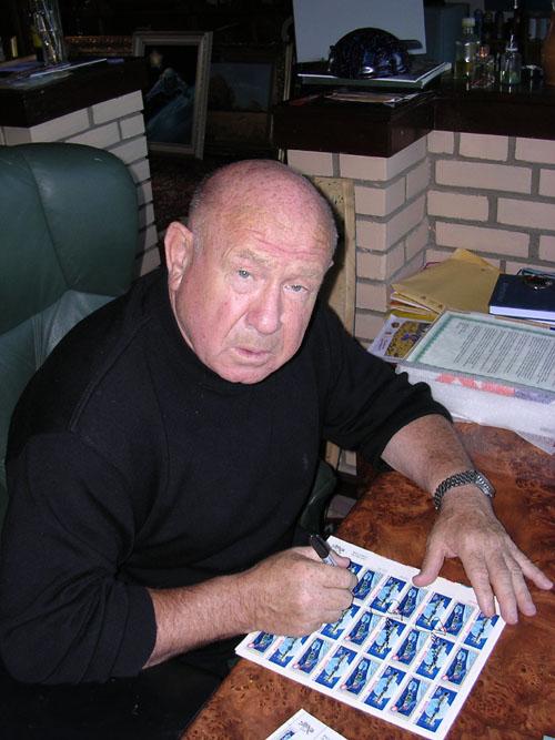 # astp107            Leonov signed ASTP stamp sheet 2
