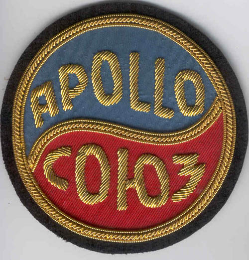 # astp301            Apollo-Soyuz bullion patch 1