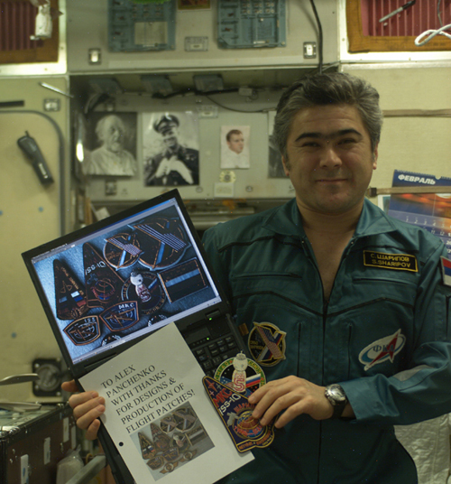 # spp096a            Tyanj-Shanj Personal patch of ISS-10 cosmonaut Sharipov 4