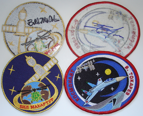 # spp093            Autographed Personal patches of ISS-12 crew 1