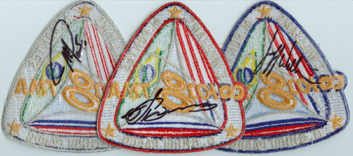 # spp089            Soyuz TMA-8 crew signed patches 4