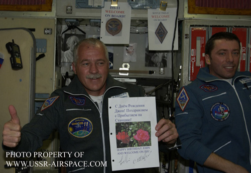 # spp097c            Astronaut Phillips Birthday/Soyuz TMA-6 wire patch 1