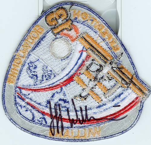 # spp090b            Astronaut Jeff Williams ISS-13 signed patch 3