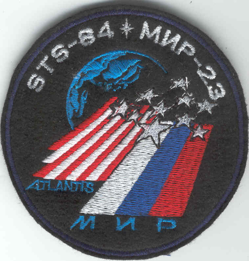 # spp151            MIR-23 STS-84 crew patch 1