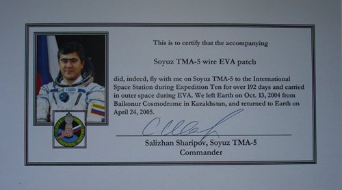 # spp095b            TMA-5 patch carried in outer cosmos 2