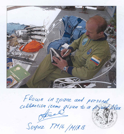 # h094            Soyuz TM-16/MIR-13 expedition flown Band 2