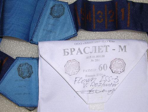 # h051f            ISS-3/STS-105/108 flown Bracelet kit of Dezhu 2