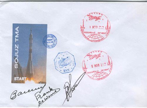 # fc038            Soyuz TMA-1/ISS/Soyuz TM-34 flown cover 1