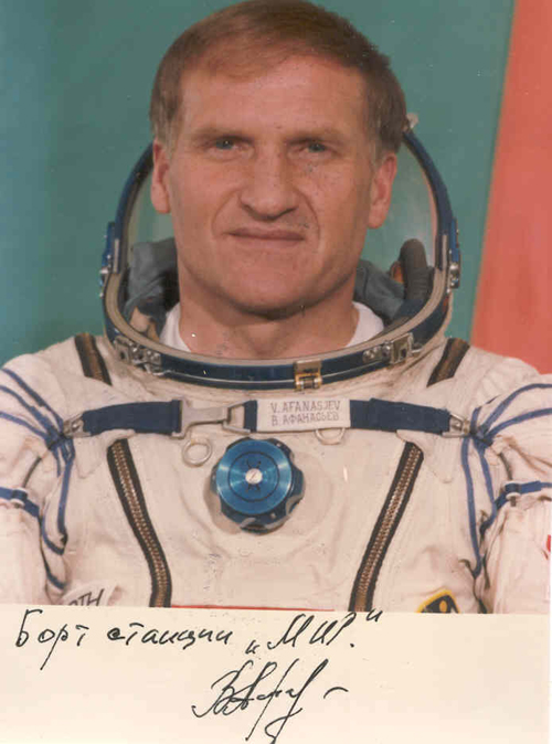 # pf113            Soyuz TM-11/MIR flown photo of commander Afan 1