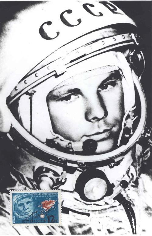 # vstk112            1964 Cosmonautics Day Soviet stamp autographed by Y.Gagarin 2