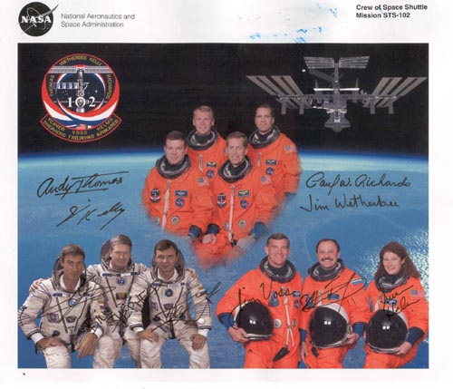 # cspc121            The Crew of Space Shuttle Mission STS-102 1