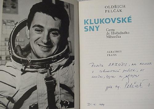 # buca301            Czechoslovakian back up cosmonaut Pelczak autographed book 2
