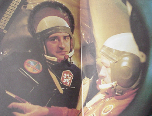# buca301            Czechoslovakian back up cosmonaut Pelczak autographed book 4