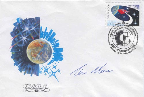 # buca205            Tim Mace UK back up cosmonaut Soyuz TM-12 signed cover 1