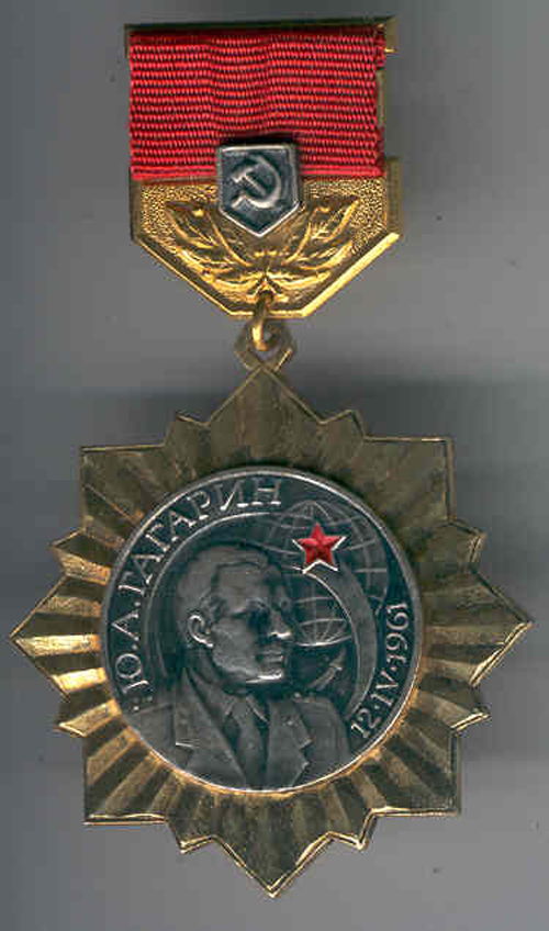 # ma122            Y.Gagarin flight 20th anniversary award medal 1