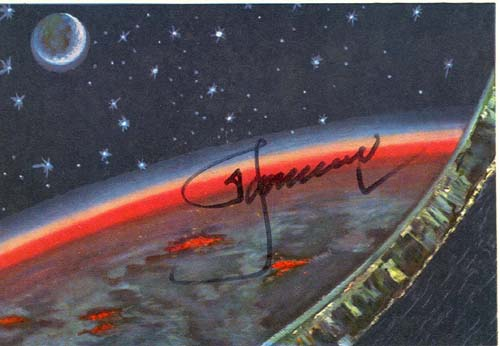 # sprnt706            Night On The Earth A.Leonov signed artwork card 1