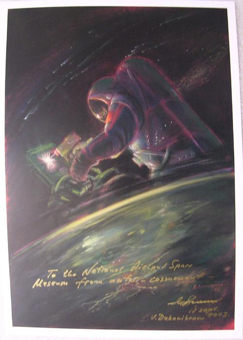 # sprnt150            Cosmonaut-Artist Dzhanibekov Space Welding artwork 1