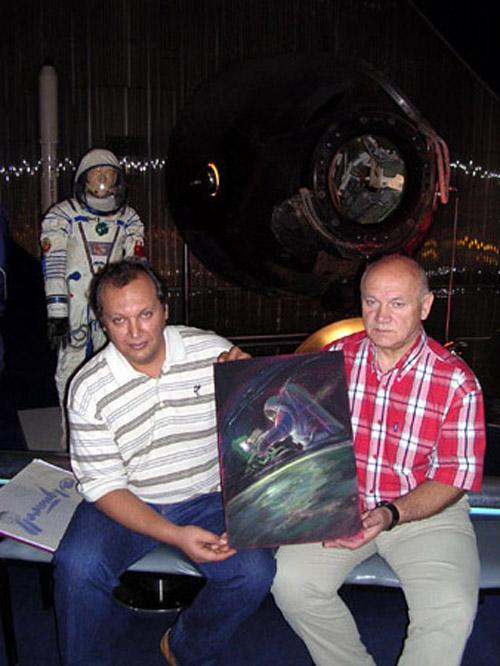# sprnt150            Cosmonaut-Artist Dzhanibekov Space Welding artwork 2
