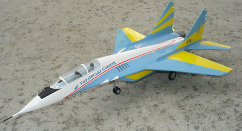# mp096b            Mig-29 Ukrainian Falcons 2-seat aircraft model 1