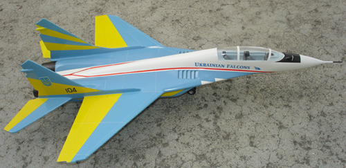 # mp096b            Mig-29 Ukrainian Falcons 2-seat aircraft model 2