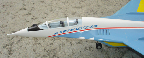 # mp096b            Mig-29 Ukrainian Falcons 2-seat aircraft model 3
