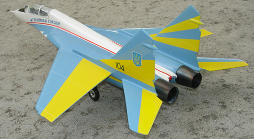 # mp096b            Mig-29 Ukrainian Falcons 2-seat aircraft model 4