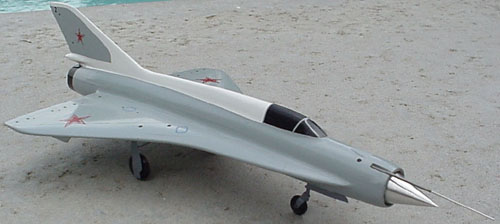 # mp117            Mig-211 `Analog` experimental aircraft model 3