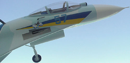 # sp201A            Su-27 Ukrainian Demonstration-Aerobatic team. 4