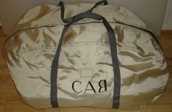 # h045 Sokol suit bag flown on Soyuz TM-9/MIR-6 1
