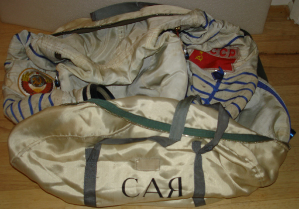 # h045 Sokol suit bag flown on Soyuz TM-9/MIR-6 3